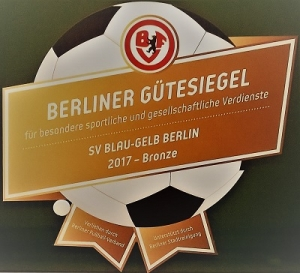 BFV Gütesiegel 2017 in Bronze